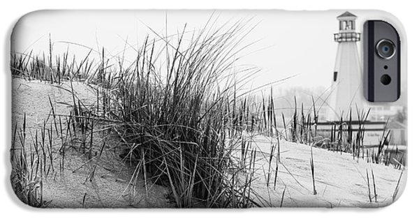 New Buffalo Michigan Lighthouse And Beach Grass IPhone Case by Paul Velgos