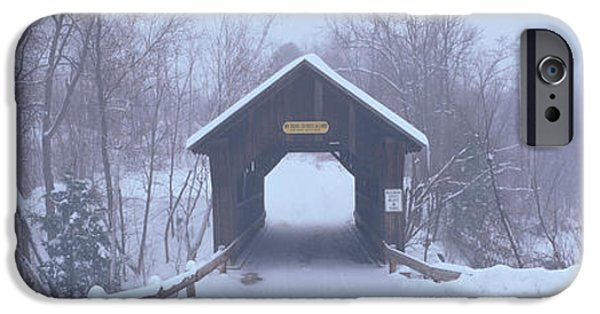 New England Covered Bridge In Winter IPhone Case by Panoramic Images