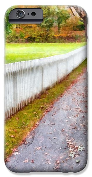 New England Picket Fence IPhone Case by Edward Fielding