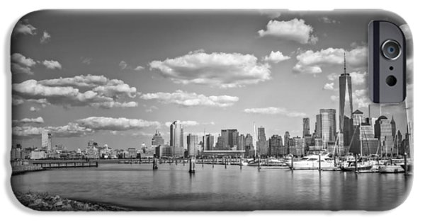 New World Trade Center Bw IPhone Case by Susan Candelario