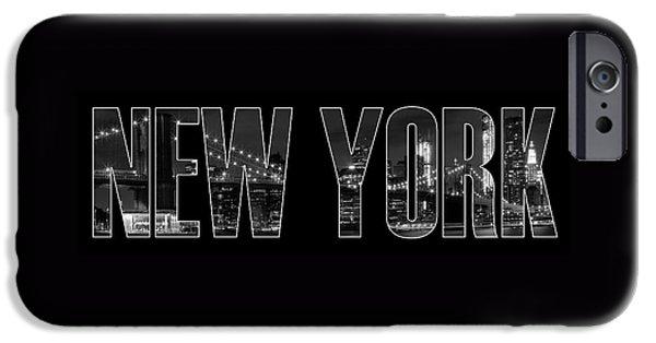 New York City Brooklyn Bridge Bw IPhone Case by Melanie Viola