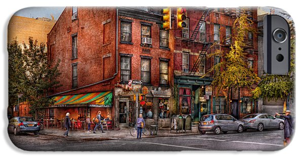 New York - City - Corner Of One Way And This Way IPhone Case by Mike Savad