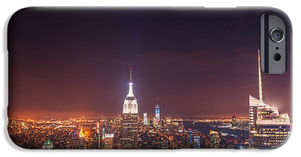 New York City Lights At Night IPhone Case by Vivienne Gucwa
