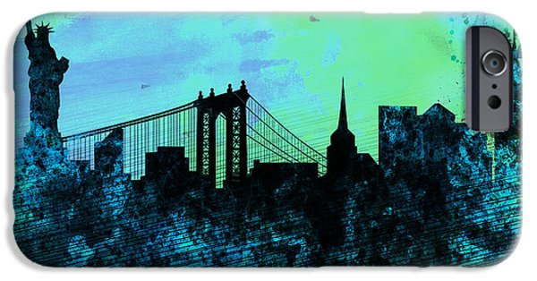 New York City Skyline IPhone Case by Naxart Studio