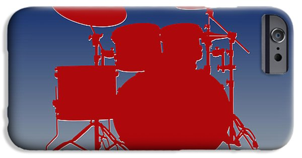 New York Giants Drum Set IPhone Case by Joe Hamilton