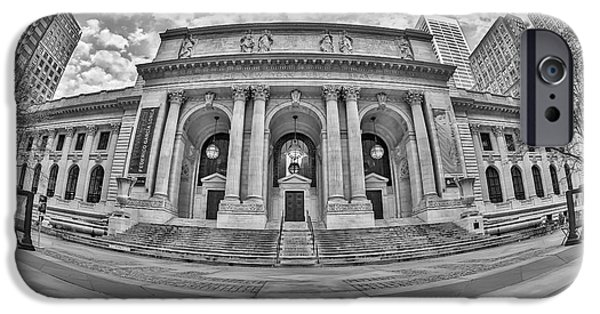New York Public Library - Nypl Bw IPhone Case by Susan Candelario