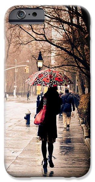 New York Rain - Greenwich Village IPhone Case by Vivienne Gucwa