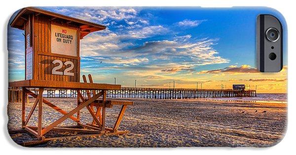 Newport Beach Pier - Wintertime  IPhone Case by Jim Carrell