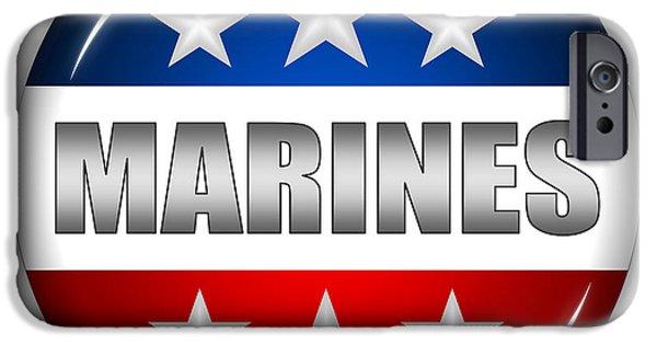 Nice Marines Shield IPhone 6s Case by Pamela Johnson