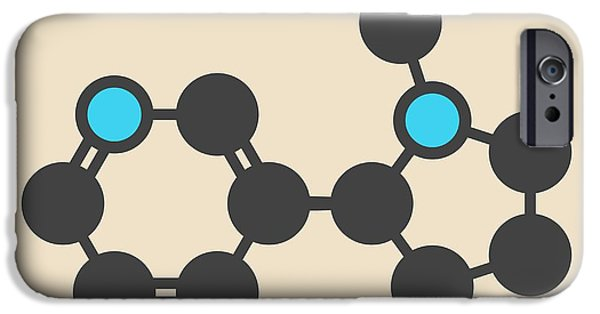 Nicotine Tobacco Stimulant Molecule IPhone Case by Molekuul