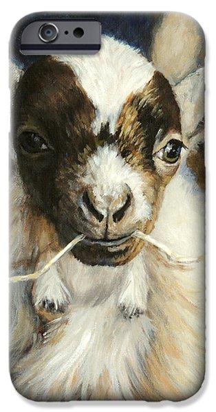Nigerian Dwarf Goat With Straw IPhone 6s Case by Dottie Dracos