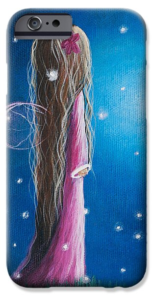 Original Fairy Artwork - Night Of 50 Wishes IPhone Case by Shawna Erback
