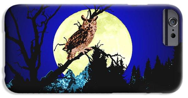 Night Owl IPhone Case by Aleirah Stevens