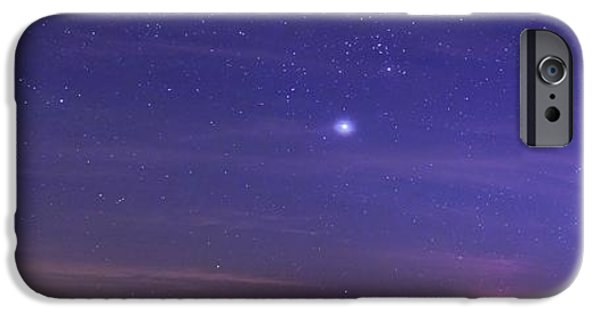 Night Sky And Setting Moon IPhone Case by Luis Argerich