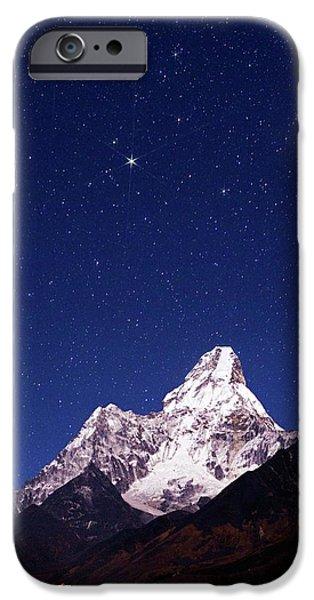 Night Sky Over Mountains IPhone Case by Babak Tafreshi