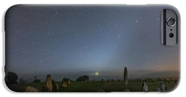 Night Sky Over Stone Circle IPhone Case by Babak Tafreshi