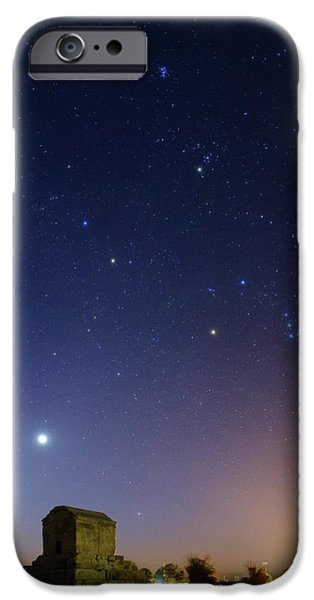 Night Sky Over Tomb Of Cyrus The Great IPhone Case by Babak Tafreshi