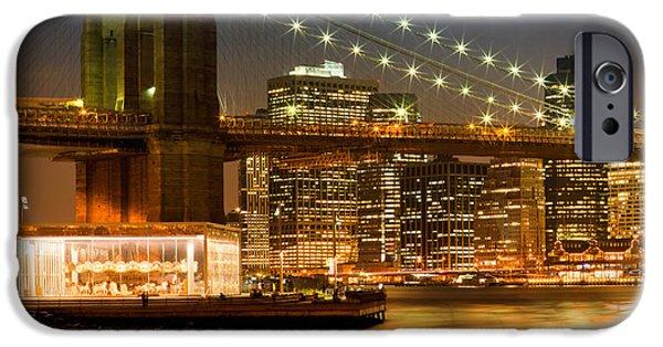 Night-skylines New York City IPhone Case by Melanie Viola