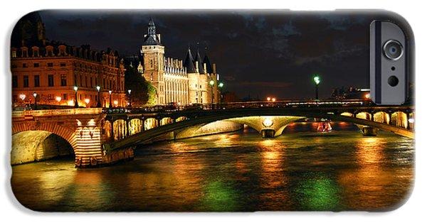 Nighttime Paris IPhone Case by Elena Elisseeva
