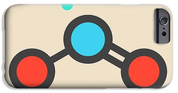 Nitrogen Dioxide Air Pollution Molecule IPhone Case by Molekuul