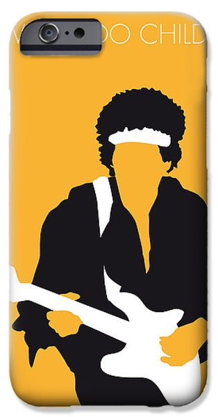 No014 My Jimi Hendrix Minimal Music Poster IPhone Case by Chungkong Art