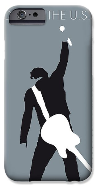 No017 My Bruce Springsteen Minimal Music Poster IPhone Case by Chungkong Art