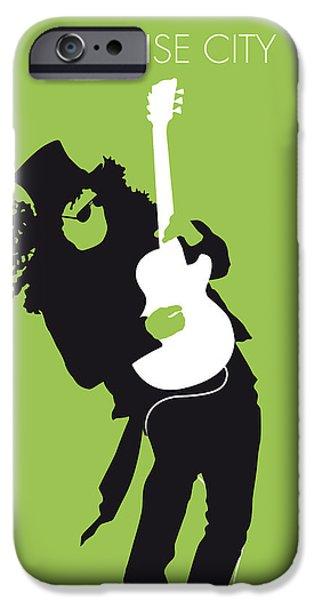 No036 My Guns And Roses Minimal Music Poster IPhone Case by Chungkong Art