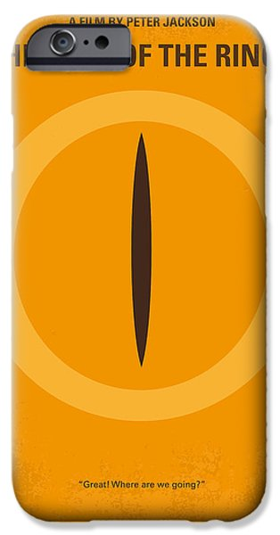 No039 My Lord Of The Rings Minimal Movie Poster IPhone Case by Chungkong Art