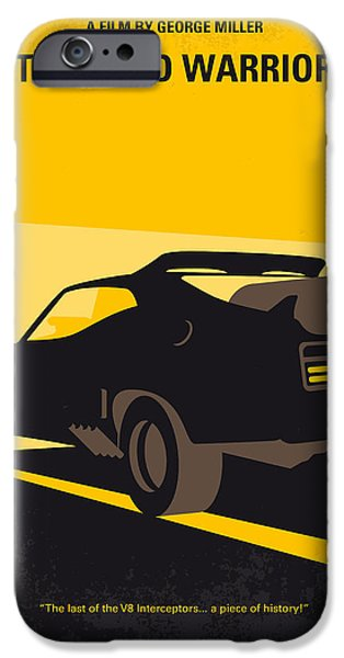 No051 My Mad Max 2 Road Warrior Minimal Movie Poster IPhone Case by Chungkong Art