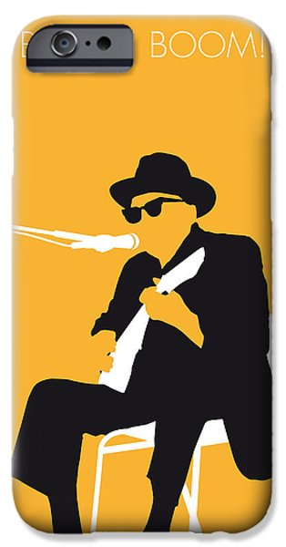 No054 My Johnny Lee Hooker Minimal Music Poster IPhone Case by Chungkong Art