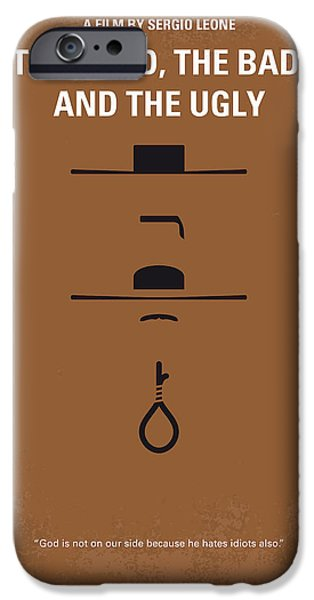 No090 My The Good The Bad The Ugly Minimal Movie Poster IPhone Case by Chungkong Art