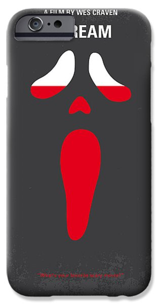 No121 My Scream Minimal Movie Poster IPhone Case by Chungkong Art