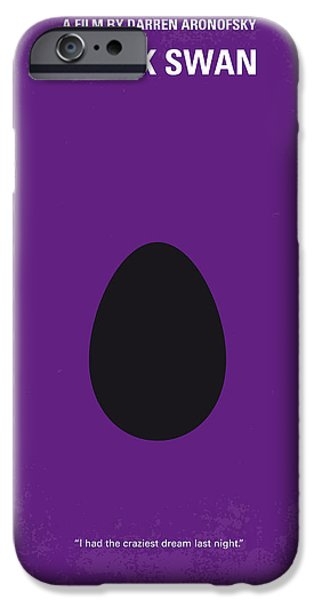 No162 My Black Swan Minimal Movie Poster IPhone Case by Chungkong Art