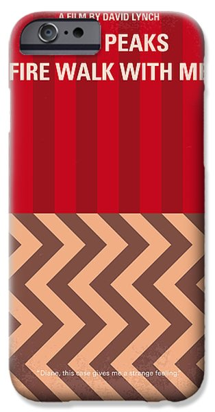 No169 My Fire Walk With Me Minimal Movie Poster IPhone Case by Chungkong Art