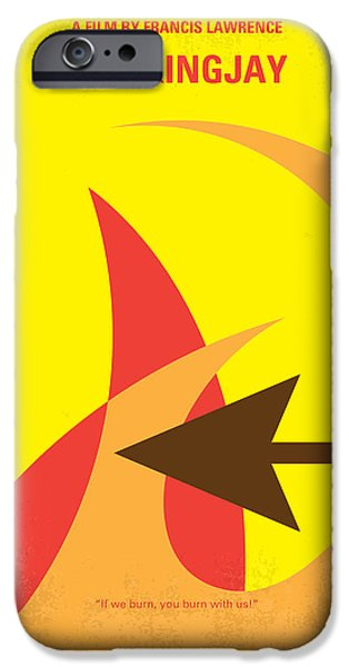 No175-3 My Mockingjay - The Hunger Games Minimal Movie Poster IPhone Case by Chungkong Art