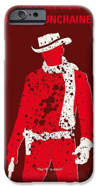 No184 My Django Unchained Minimal Movie Poster IPhone Case by Chungkong Art