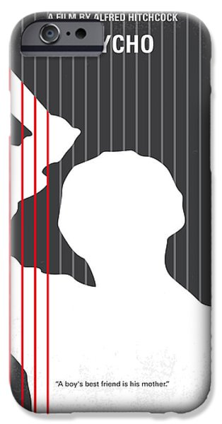 No185 My Psycho Minimal Movie Poster IPhone Case by Chungkong Art