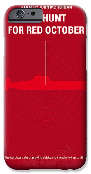 No198 My The Hunt For Red October Minimal Movie Poster IPhone Case by Chungkong Art