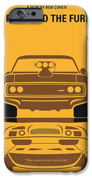 No207 My The Fast And The Furious Minimal Movie Poster IPhone Case by Chungkong Art