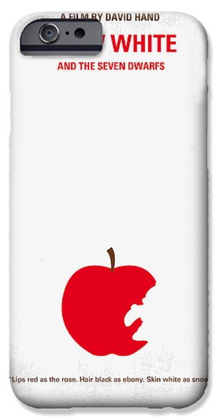 No252 My Snow White Minimal Movie Poster IPhone Case by Chungkong Art