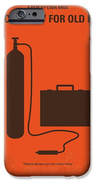 No253 My No Country For Old Men Minimal Movie Poster IPhone Case by Chungkong Art