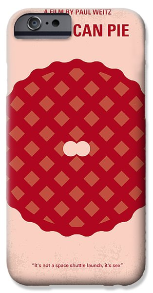 No262 My American Pie Minimal Movie Poster IPhone Case by Chungkong Art