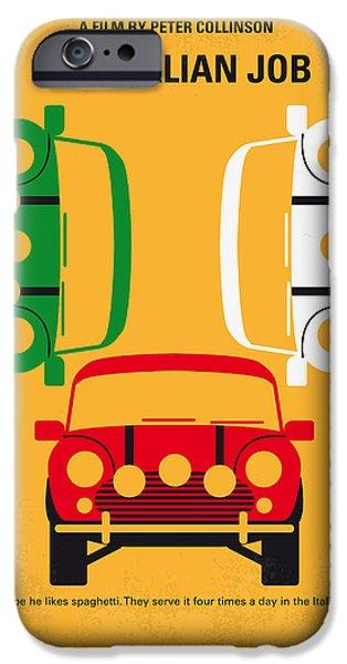 No279 My The Italian Job Minimal Movie Poster IPhone Case by Chungkong Art