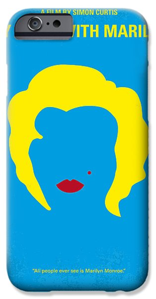 No284 My Week With Marilyn Minimal Movie Poster IPhone Case by Chungkong Art