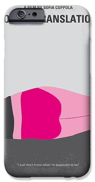 No287 My Lost In Translation Minimal Movie Poster IPhone Case by Chungkong Art