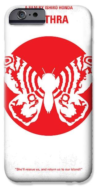 No391 My Mothra Minimal Movie Poster IPhone Case by Chungkong Art