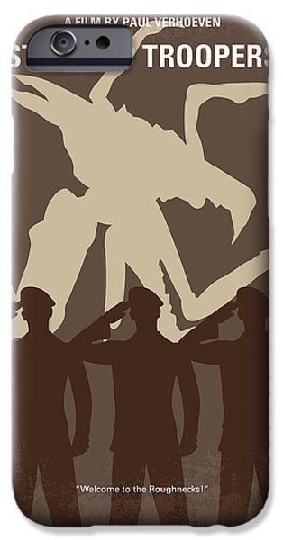 No424 My Starship Troopers Minimal Movie Poster IPhone Case by Chungkong Art