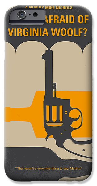 No426 My Whos Afraid Of Virginia Woolf Minimal Movie Poster IPhone Case by Chungkong Art