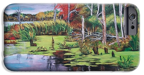 Norman Lake  IPhone Case by Sharon Duguay