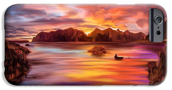 Northern Norway - Ipad Version IPhone Case by Angela A Stanton